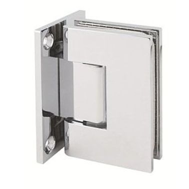 Chrome shower hinge